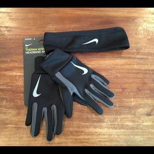 Nike thermal women's headband & glove set XS/S